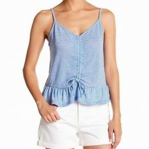 Socialite Striped Cinched-Waist Cami Top